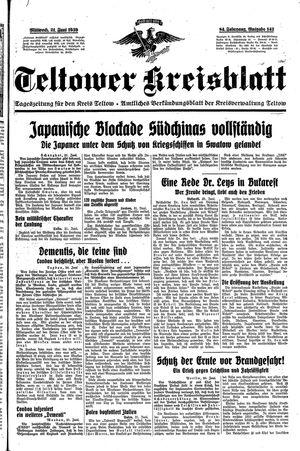 Teltower Kreisblatt vom 21.06.1939