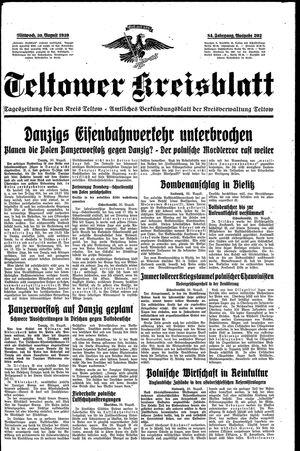 Teltower Kreisblatt vom 30.08.1939