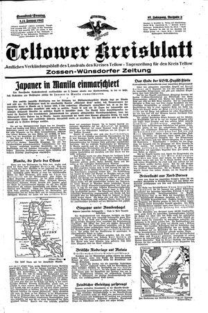Teltower Kreisblatt vom 03.01.1942