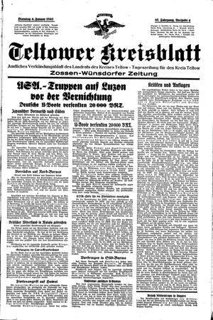 Teltower Kreisblatt vom 06.01.1942