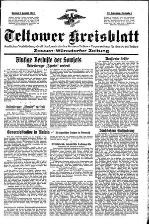 Teltower Kreisblatt vom 09.01.1942