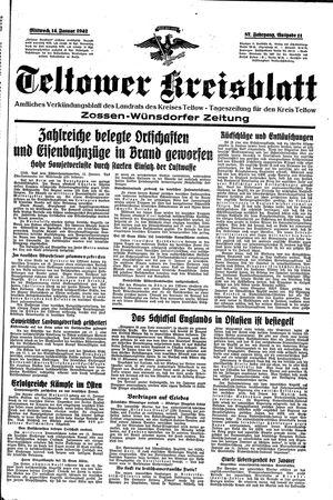 Teltower Kreisblatt vom 14.01.1942