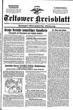 Teltower Kreisblatt on Jan 17, 1942