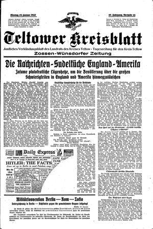 Teltower Kreisblatt on Jan 19, 1942
