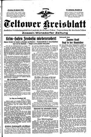 Teltower Kreisblatt vom 20.01.1942