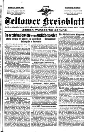 Teltower Kreisblatt on Jan 21, 1942