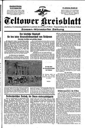 Teltower Kreisblatt vom 24.01.1942