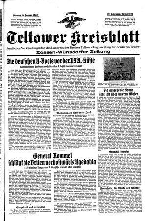 Teltower Kreisblatt vom 26.01.1942