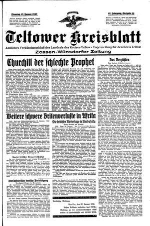 Teltower Kreisblatt vom 27.01.1942