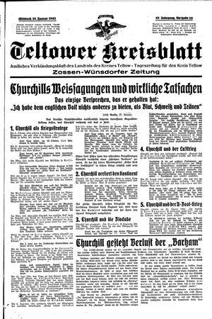 Teltower Kreisblatt vom 28.01.1942