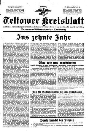 Teltower Kreisblatt vom 30.01.1942