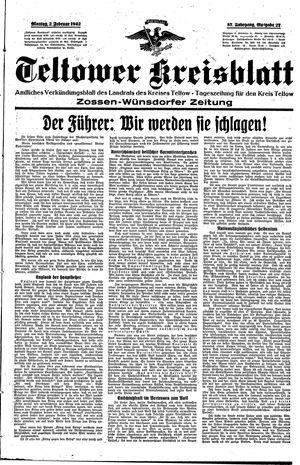 Teltower Kreisblatt vom 02.02.1942
