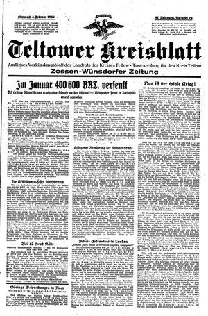 Teltower Kreisblatt vom 04.02.1942