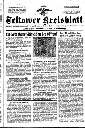 Teltower Kreisblatt vom 05.02.1942
