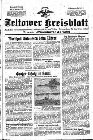 Teltower Kreisblatt vom 14.02.1942