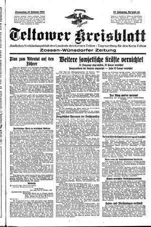 Teltower Kreisblatt on Feb 19, 1942