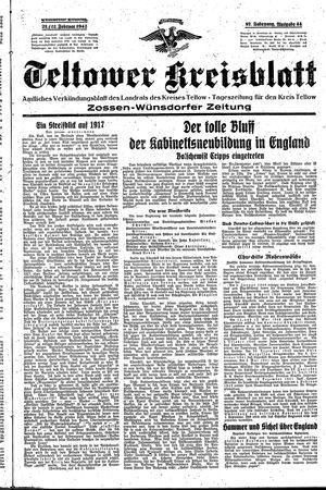 Teltower Kreisblatt vom 21.02.1942