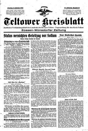 Teltower Kreisblatt vom 24.02.1942