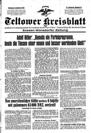 Teltower Kreisblatt on Feb 25, 1942
