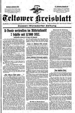 Teltower Kreisblatt vom 27.02.1942