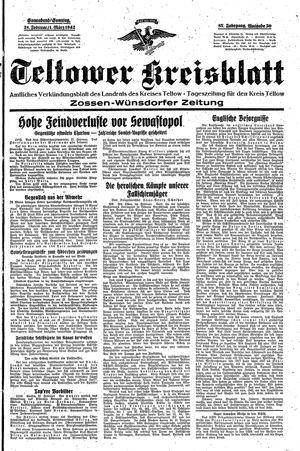 Teltower Kreisblatt vom 28.02.1942