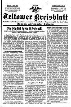 Teltower Kreisblatt vom 04.03.1942