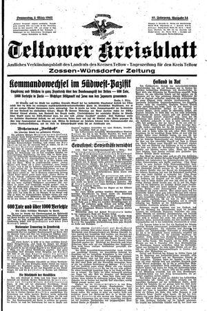 Teltower Kreisblatt vom 05.03.1942