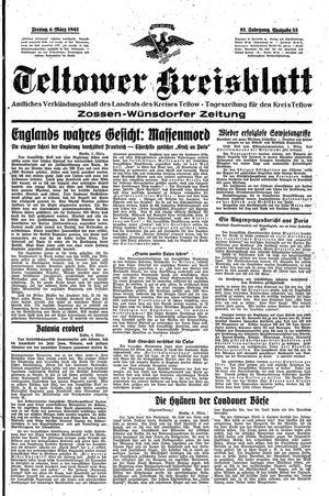 Teltower Kreisblatt vom 06.03.1942