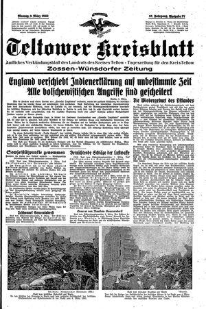 Teltower Kreisblatt vom 09.03.1942