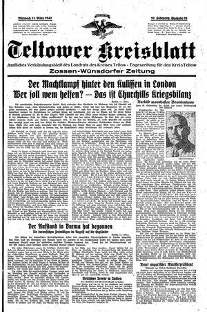 Teltower Kreisblatt vom 11.03.1942