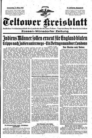 Teltower Kreisblatt vom 12.03.1942