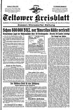 Teltower Kreisblatt vom 13.03.1942