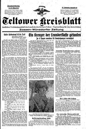 Teltower Kreisblatt vom 14.03.1942
