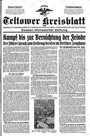 Teltower Kreisblatt vom 16.03.1942