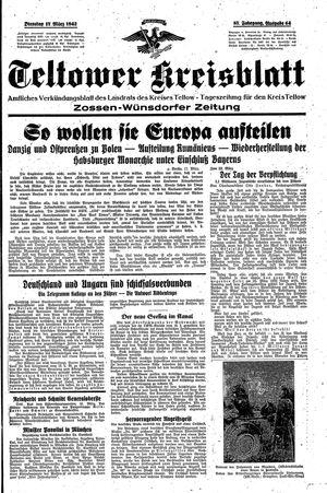 Teltower Kreisblatt vom 17.03.1942
