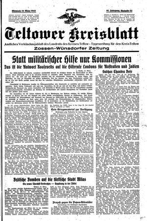 Teltower Kreisblatt vom 18.03.1942