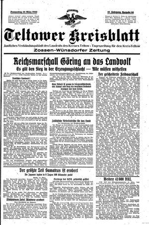 Teltower Kreisblatt vom 19.03.1942