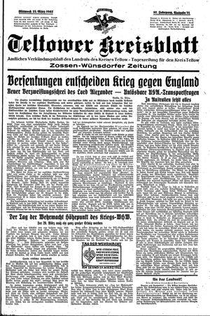 Teltower Kreisblatt on Mar 25, 1942