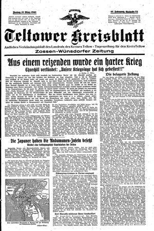 Teltower Kreisblatt vom 27.03.1942