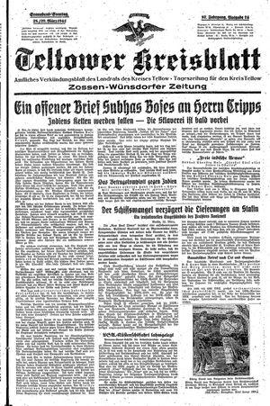 Teltower Kreisblatt vom 28.03.1942