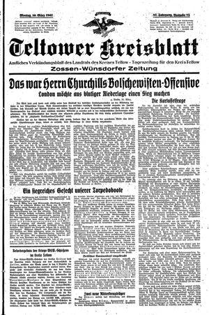 Teltower Kreisblatt vom 30.03.1942