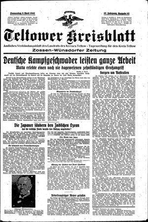 Teltower Kreisblatt vom 09.04.1942