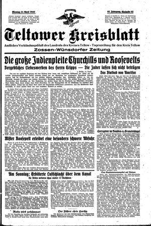 Teltower Kreisblatt vom 13.04.1942