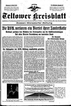 Teltower Kreisblatt vom 15.04.1942