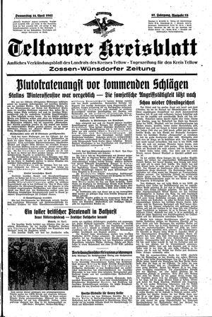 Teltower Kreisblatt vom 16.04.1942