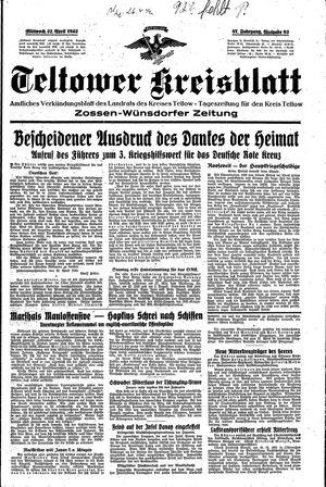 Teltower Kreisblatt on Apr 22, 1942