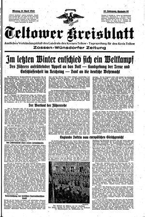 Teltower Kreisblatt vom 27.04.1942