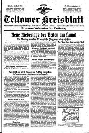 Teltower Kreisblatt vom 28.04.1942