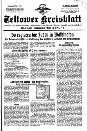Teltower Kreisblatt vom 29.04.1942