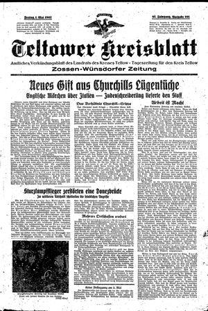 Teltower Kreisblatt vom 01.05.1942